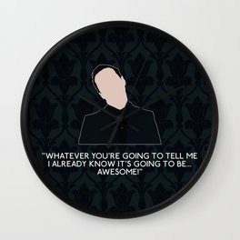 The Final Problem - Jim Moriarty Wall Clock