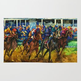 The Race No. 2 by Kathy Morton Stanion Rug