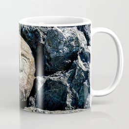 Happy Faces Carved in Stone Coffee Mug