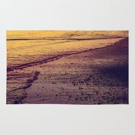 Golden Sunset at Beach Rug