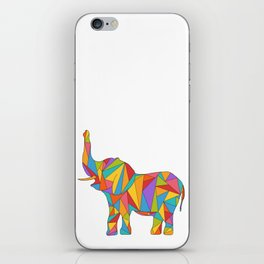 Big, bright, and colorful elephant - polychromatic animal iPhone Skin