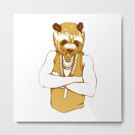 Bear - Panda - You're a Beast Metal Print