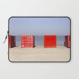 The Beach With Red Laptop Sleeve