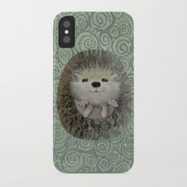 Cute Baby Hedgehog iPhone Case