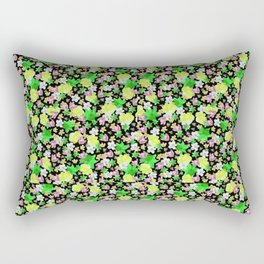Green Floral Haze Rectangular Pillow