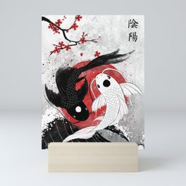 Koi fish - Yin Yang Mini Art Print