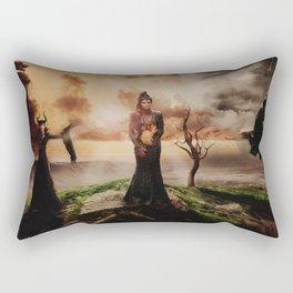 Fiery Queen Rectangular Pillow