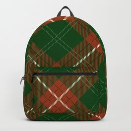 Christmas Tartan Plaid Backpack