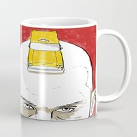 taxi driver Mugs featuring Taxi Driver by Matthew Bartlett