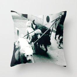Dog Walker NYC  Throw Pillow