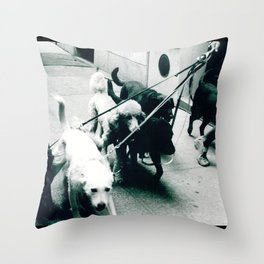 Dog Walker NYC  Throw Pillow