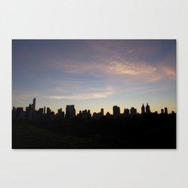 New York Skyline at Dusk  Canvas Print
