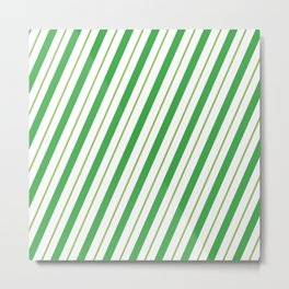 Green Peppermint - Christmas Illustration Metal Print