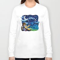 constellations Long Sleeve T-shirts featuring constellations by Catus