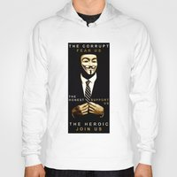 anonymous Hoodies featuring anonymous by Adam Cieslik