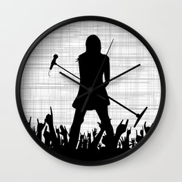 Girl With Microphone Wall Clock