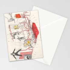Chart Of Lubrication Points Of D-103 Engine Stationery Cards