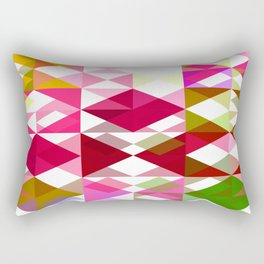 Crape Myrtle Abstract Triangles 1 Rectangular Pillow