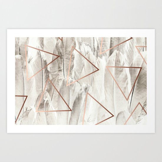 Feathers & Copper #society6 #decor #buyart Art Print