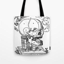 Hourglass and Skull 1537 Tote Bag
