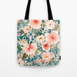 HIBISCUS NIGHTSWEATS Tropical Floral Tote Bag