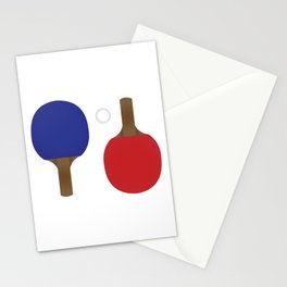 Ping Pong Rackets Stationery Cards