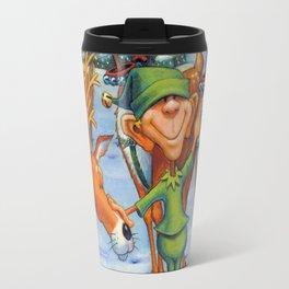 Elf Karl and the Reindeer Travel Mug