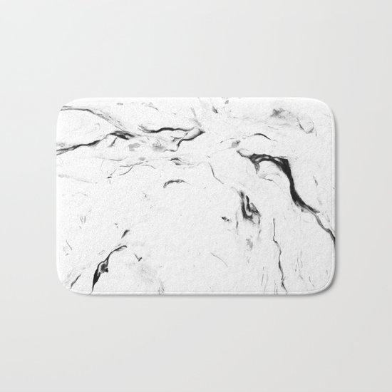 White Marble #society6 #decor #buyart Bath Mat
