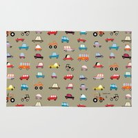 cars Area & Throw Rugs featuring Cars by ilusland .:. marcelo BAdARI
