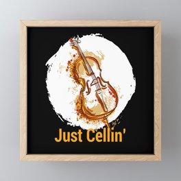 Just Cellin Violin Violin Musicians Framed Mini Art Print
