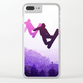 Snowboard Skyline IV Clear iPhone Case