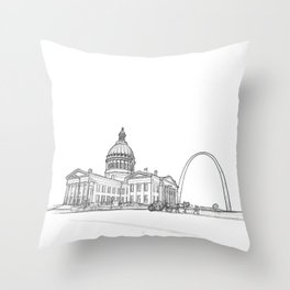 The Arch and capital with  carriage Throw Pillow