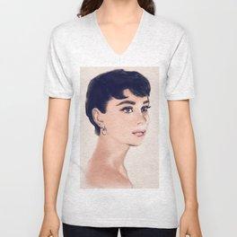 Audrey Hepburn Unisex V-Neck