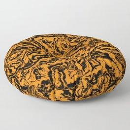 modern scramble, black and orange Floor Pillow
