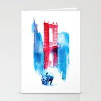 bridge Stationery Cards featuring Manhattan bridge by Robert Farkas