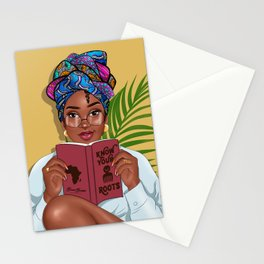 READ BETWEEN THE LINES by Bennie Buatsie Stationery Cards