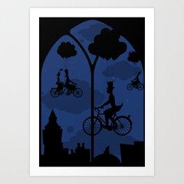 Let's go fly a bike Art Print