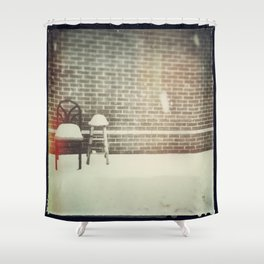 Together in the Snow Shower Curtain