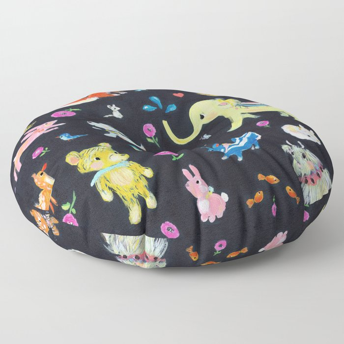 Colorful animals Floor Pillow