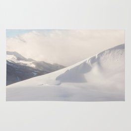 Mountain ridges landscape Rug