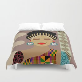 African Queen III Duvet Cover