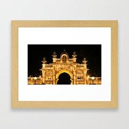 Main Gate of Mysore Palace Framed Art Print