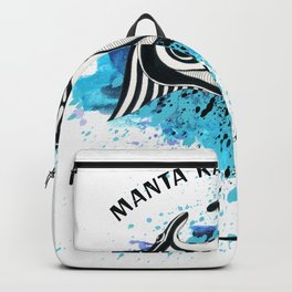 Manta Ray ist ink Watercolor Splash Backpack