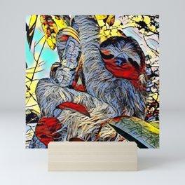 Color Kick -Sloth Mini Art Print