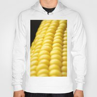 indiana Hoodies featuring Indiana Corn by Brian Raggatt