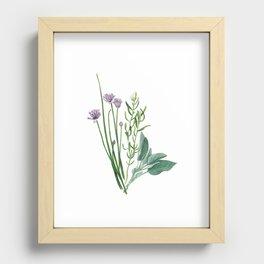 Fresh Herbs Recessed Framed Print