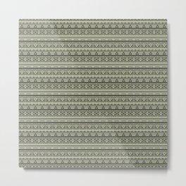 Grey , brown , ethnic 1 Metal Print