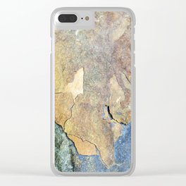 Abstract Stone Clear iPhone Case