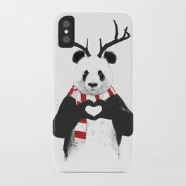 Xmas panda iPhone Case