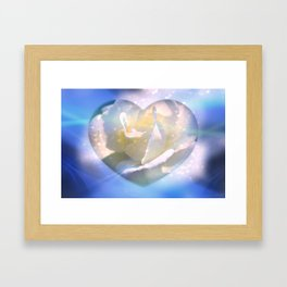 Forever Love Abstract  Framed Art Print